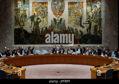 United Nations, New York, USA. 1st August, 2017. File photo taken on July 14, 2017 shows United Nations Security - Stock Photo