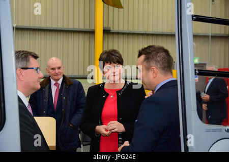 Moy, UK. 02nd Aug, 2017. DUP Party Leader Arlene Foster attending the launch of the first Air Ambulance Northern - Stock Photo