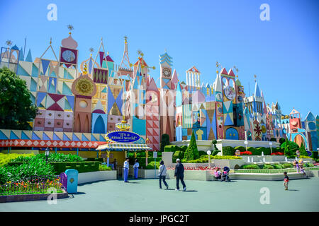 CHIBA, JAPAN: It's A Small World attraction in Fantasyland, Tokyo Disneyland - Stock Photo