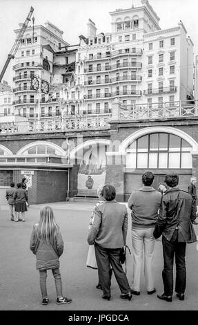 Aftermath of the Grand Hotel Brighton bombing in 1984 - Stock Photo