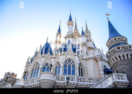 Tokyo Disneyland Cinderella Castle - Stock Photo