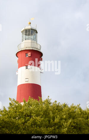 Plymouth Lighthouse - Stock Photo