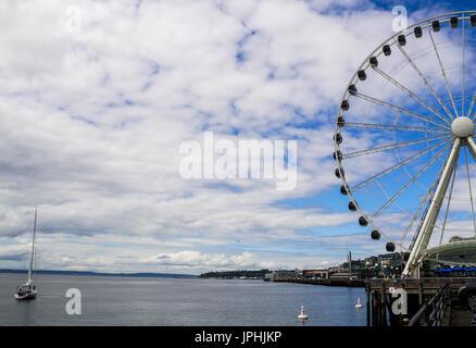 Waterfront Ferris wheel - Stock Photo