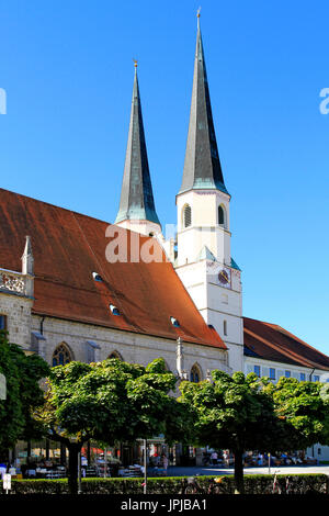 Collegiate church Saint Philipp and Jakob, Altoetting, Upper Bavaria, Germany, Europe - Stock Photo