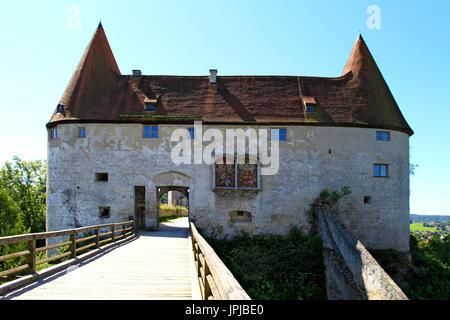 Part of the castle complex, Burg zu Burghausen Castle, Burghausen, Upper Bavaria, Bavaria, Germany, Europe - Stock Photo