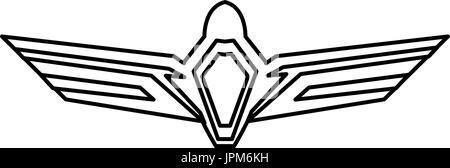 aviation emblem badge military and civil aviation icon - Stock Photo