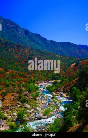 Kaweah River Valley, Sequoia National Park, Three Rivers, Tulare County, California, United States - Stock Photo