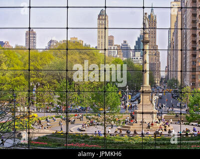 A view of Columbus Circle from the Time Warner Building - Stock Photo