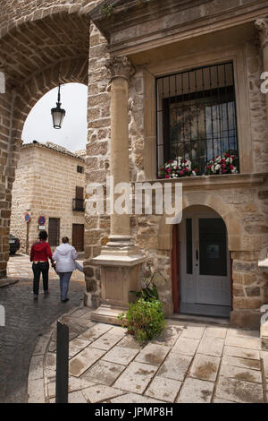 Gate of Ubeda or called Puerta de Ubeda, destroyed by order of Isabella the Catholic in 1476, it was rebuilt soon - Stock Photo