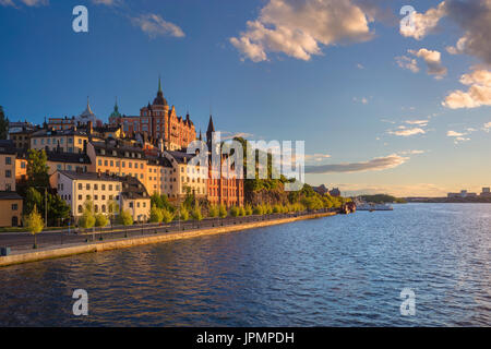 Stockholm. Image of old town Stockholm, Sweden during sunset. - Stock Photo