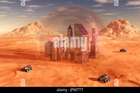 Colonizing & Terraforming Mars - Stock Photo