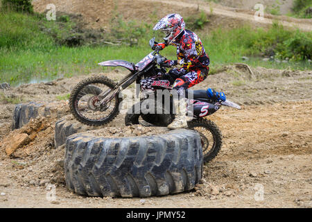 competitions hard Enduro  no place to run  - Stock Photo