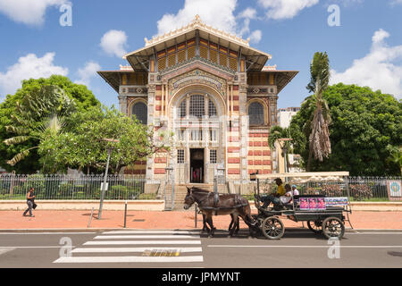 Schoelcher Library in Fort-de-France, Martinique Island, West Indies - Stock Photo