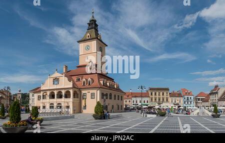Council's Square / Piata Sfatului in Brasov, Romania - Stock Photo