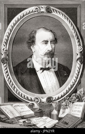 Louis Figuier, 1819 –  1894.  French scientist and writer.  From Les Merveilles de la Science, published 1870. - Stock Photo
