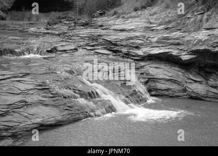 A waterfall in Coyote Gulch, Grand Staircase-Escalante National Monument, Utah. - Stock Photo