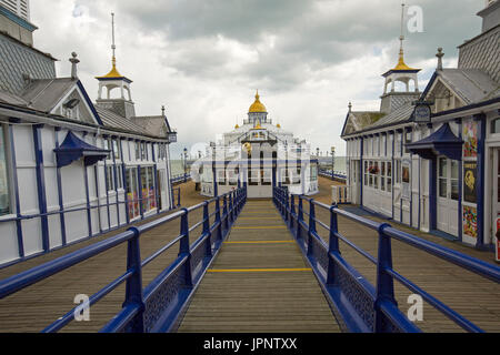 Historic Victorian pier at Eastbourne, England - Stock Photo