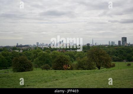 London Parks - Primrose Hill - UK - Stock Photo