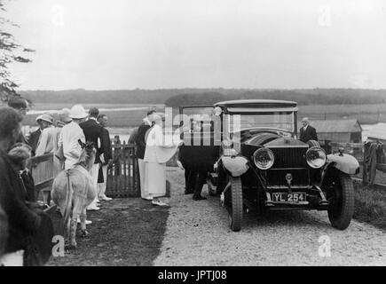 Queen Mary visits Bucklers Hard August 10 1928 - Stock Photo