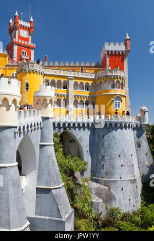 National Palace of Pena in Sintra, near Lisbon, Portugal. - Stock Photo