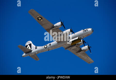 USAF Boeing B-29 Super Fortress named 'FiFi' in the flying-display at the 1997 Confederate-Air-Force Airshow - Stock Photo