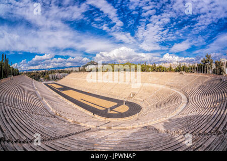 Panathenaic stadium in Athens, Greece - Stock Photo