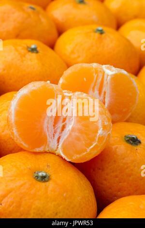 Kishu mandarins, Citrus kinokuni - Stock Photo