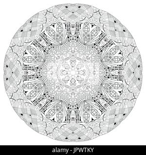 Mandalas For Coloring Book Decorative Black And White