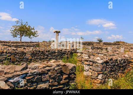 Dobrogea, Romania. Roman ruins of Histria citadel. - Stock Photo