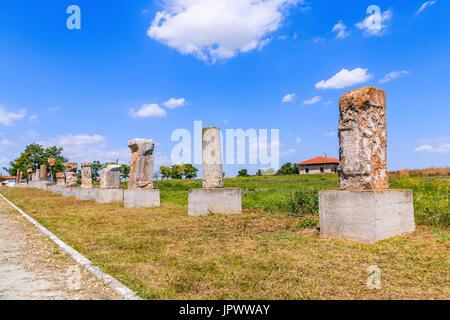 Dobrogea, Romania. Ancien ruins from Histria, Romania. - Stock Photo