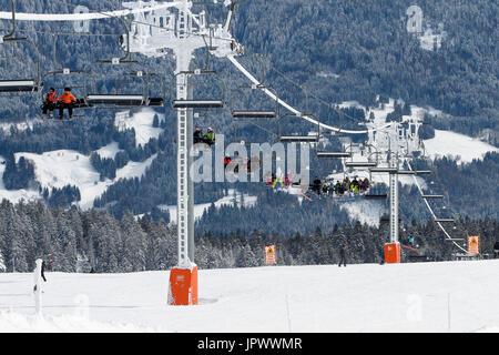 Semnoz Ski Resort - Bauges Alpes France - Stock Photo