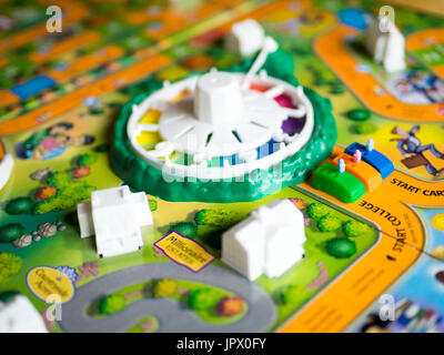 A view of The Game of Life (also known as LIFE), a board game originally created in 1860 by MIlton Bradley. - Stock Photo