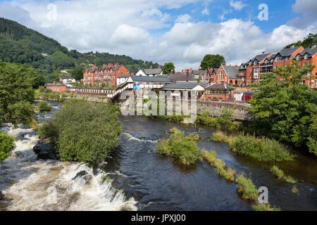 LLangollen Denbighshire North Wales - Stock Photo
