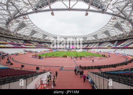 London, UK. 2nd Aug, 2017. General view of the London Stadium ahead of The IAAF World Championships London 2017 - Stock Photo