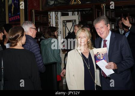 Phoenix Theatre, London, UK. 2nd Aug, 2017. Roy Hodgson attends Evita - Press Night. Credit: See Li/Alamy Live News - Stock Photo