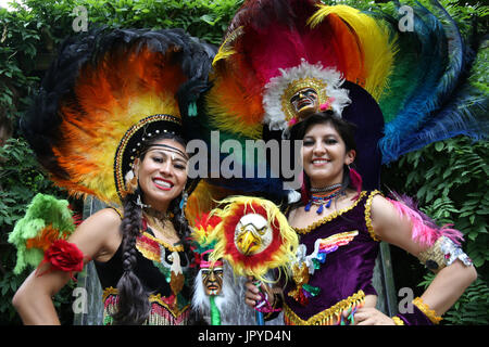 London, UK. 03rd Aug, 2017. Bolivia Independence day, August the 6, was celebrated by the Bolivian Embassy in the - Stock Photo