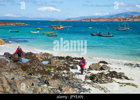 Shore of Iona Island - Inner Hebrides Scotland - Stock Photo