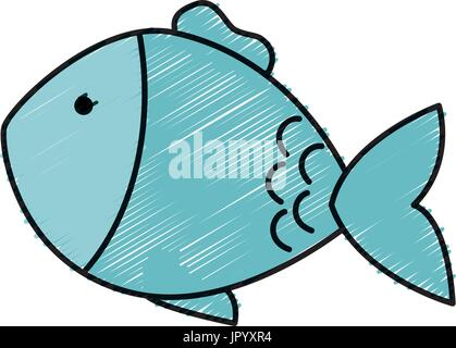 fish pet isolated icon - Stock Photo
