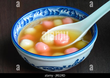 Taiwanese homemade tangyuan dessert, served for special Chinese holidays - Stock Photo