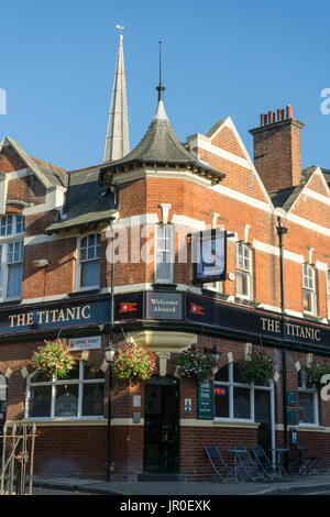 The Titanic pub in the Old Town part of Southampton, England, UK - Stock Photo