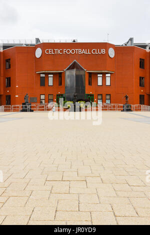 The Main Stand At Celtic Park Home Of Glasgow Football Club In Scotland
