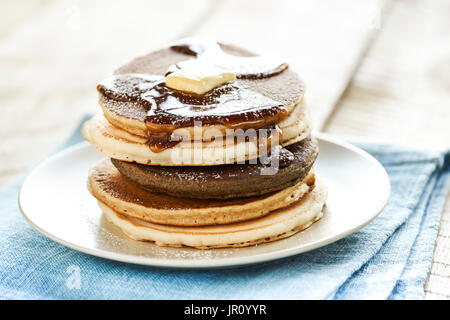 Pancakes, multigrain pancakes - Stock Photo