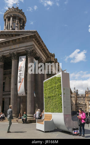 City Tree biological air filter, Royal Exchange Square, Glasgow, Scotland, UK - Stock Photo