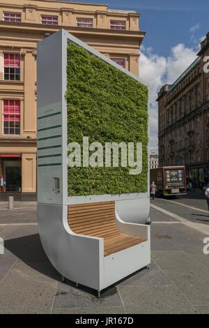City Tree biological air filter, Royal Exchange Square, Glasgow, Scotland, UK - Stock Photo