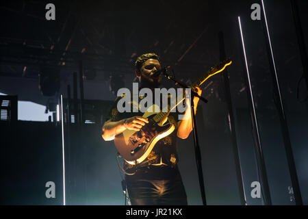 Alt-J performing at Panorama in New York City - Stock Photo