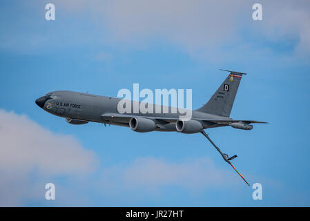 Boeing KC-135R taking part in the United States Air Force 70th Anniversary Flypast at the Royal International Air - Stock Photo