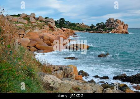 Ploumanach Cotes Granites Rose Brittany France Stock Photo