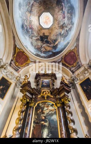 Interior Design And Artwork In St. George's Basilica, Prague Castle Complex; Prague, Czech Republic - Stock Photo