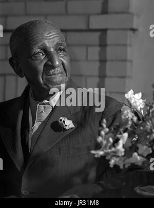 George Washington Carver (1864 - January 5, 1943) was an African-American scientist, botanist, educator, and inventor - Stock Photo