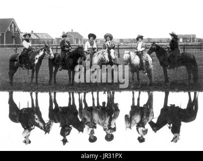 The Miller Brothers 101 Ranch was a 110,000 acre cattle ranch in the Indian Territory of Oklahoma before statehood, - Stock Photo